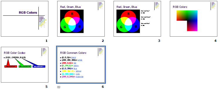 RGB Colors Powerpoint