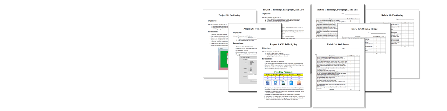 Sample Curriculum Projects and Rubrics Images